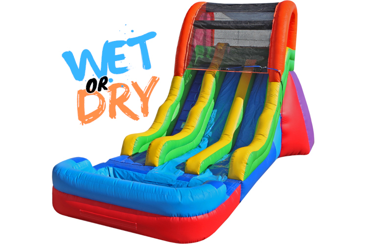 17' Dual Fun Slide (Wet)