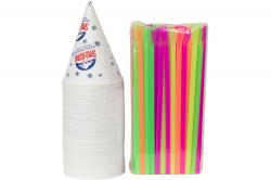 Snow Cones & Straws